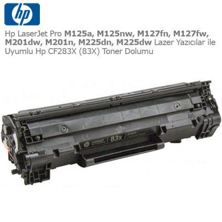 Hp CF283X Toner Dolumu