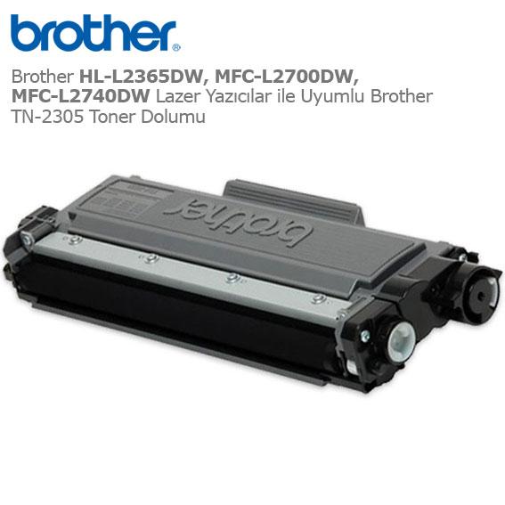 Brother TN-2305 Toner Dolumu