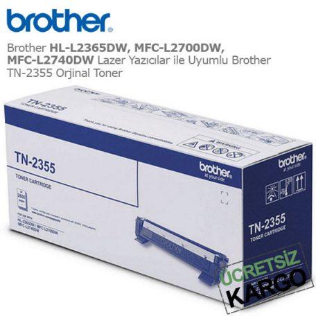 Brother TN-2355 Orjinal Toner
