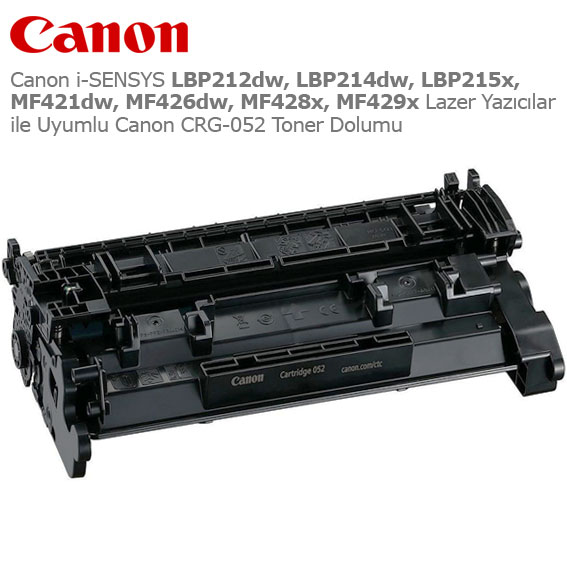Canon CRG-052 Toner Dolumu
