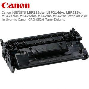Canon CRG-052H Toner Dolumu