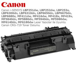 Canon CRG-719 Toner Dolumu