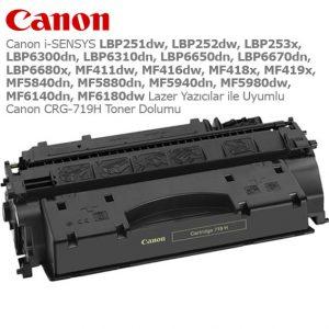 Canon CRG-719H Toner Dolumu