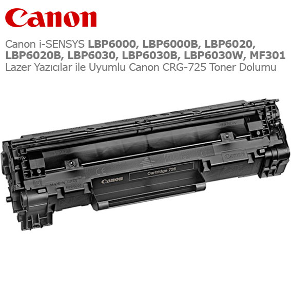 Canon CRG-725 Toner Dolumu