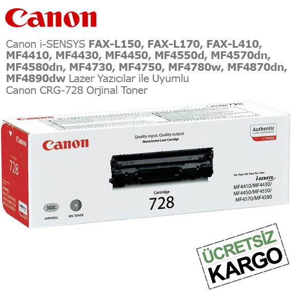 Canon CRG-728 Orjinal Toner