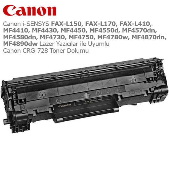 Canon CRG-728 Toner Dolumu