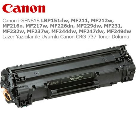 Canon CRG-737 Toner Dolumu