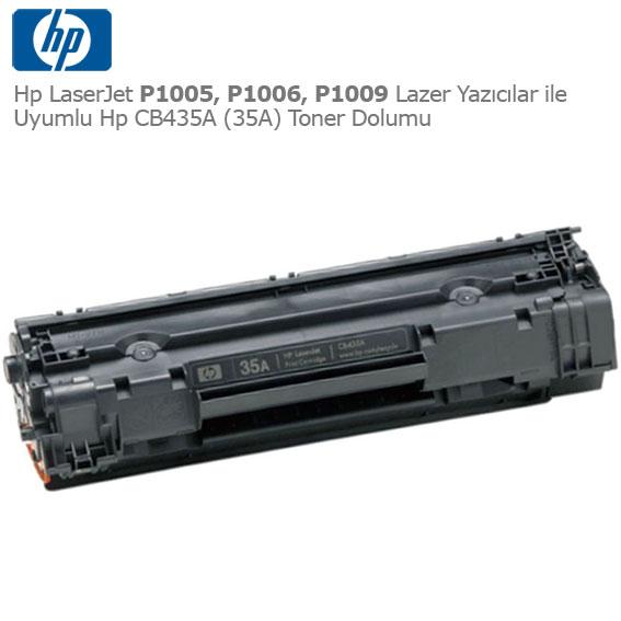 Hp CB435A Toner Dolumu