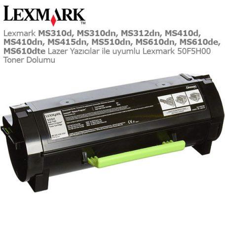 Lexmark 50F5H00 Toner Dolumu