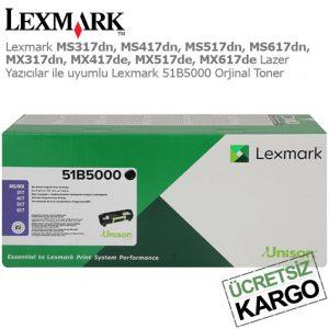 Lexmark 51B5000 Orjinal Toner