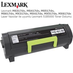 Lexmark 51B5000 Toner Dolumu