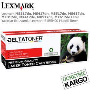 Lexmark 51B5H00 Muadil Toner
