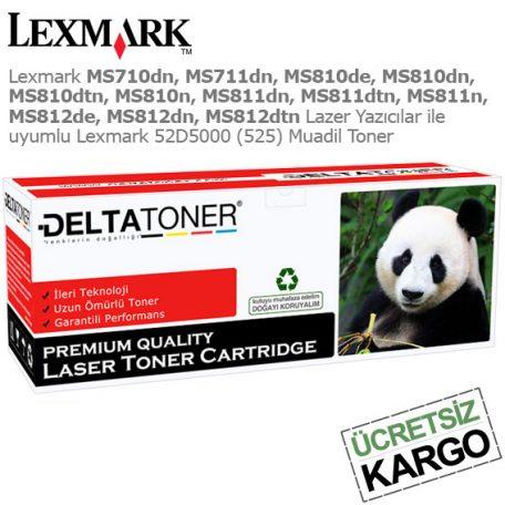 Lexmark 52D5000 Muadil Toner