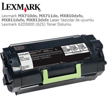 Lexmark 62D5000 Toner Dolumu
