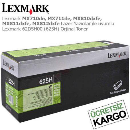 Lexmark 62D5H00 Orjinal Toner