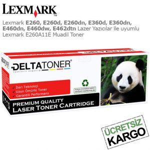 Lexmark E260A11E Muadil Toner