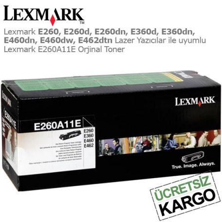 Lexmark E260A11E Orjinal Toner
