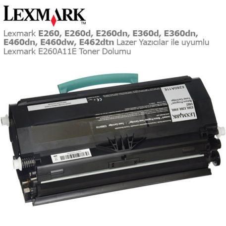 Lexmark E260A11E Toner Dolumu