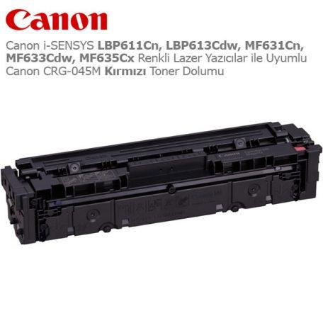 Canon CRG-045M Kırmızı Toner Dolumu