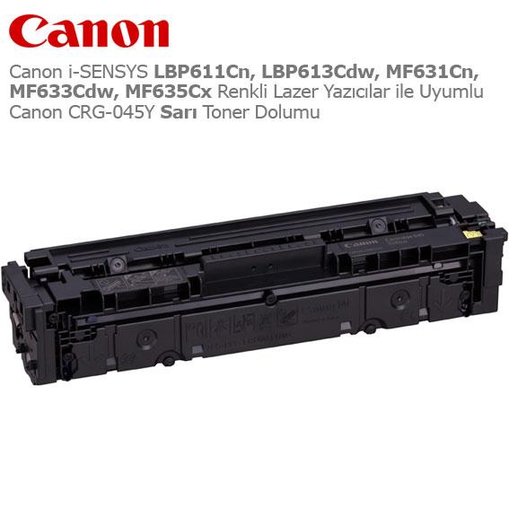 Canon CRG-045Y Sarı Toner Dolumu