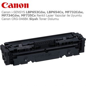 Canon CRG-046BK Siyah Toner Dolumu