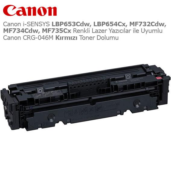 Canon CRG-046M Kırmızı Toner Dolumu