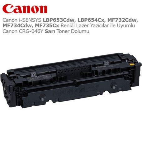 Canon CRG-046Y Sarı Toner Dolumu