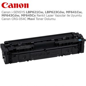 Canon CRG-054C Mavi Toner Dolumu