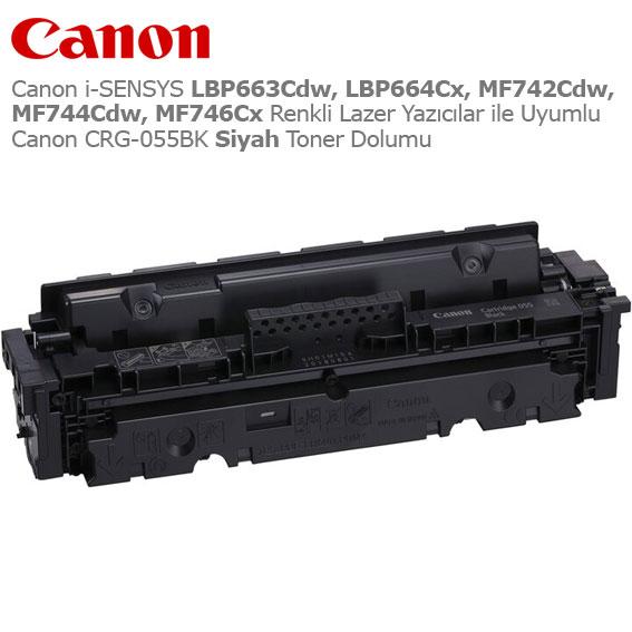 Canon CRG-055BK Siyah Toner Dolumu