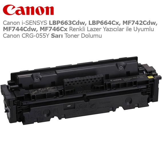 Canon CRG-055Y Sarı Toner Dolumu