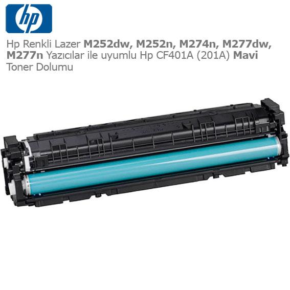 Hp CF401A (201A) Mavi Toner Dolumu