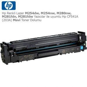 Hp CF541A (203A) Mavi Toner Dolumu