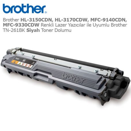 Brother TN-261BK Siyah Toner Dolumu