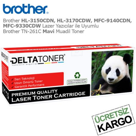 Brother TN-261C Mavi Muadil Toner