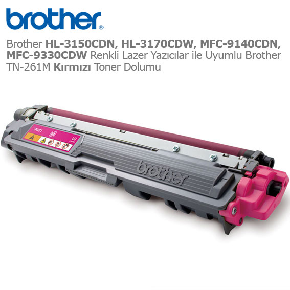 Brother TN-261M Kırmızı Toner Dolumu
