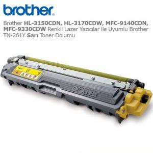 Brother TN-261Y Sarı Toner Dolumu