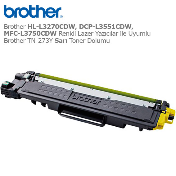 Brother TN-273Y Sarı Toner Dolumu