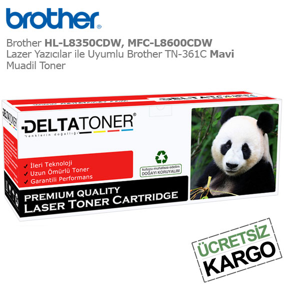 Brother TN-361C Mavi Muadil Toner