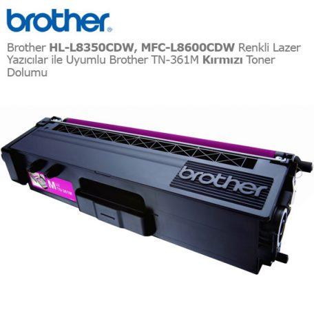 Brother TN-361M Kırmızı Toner Dolumu