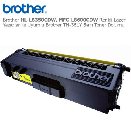 Brother TN-361Y Sarı Toner Dolumu
