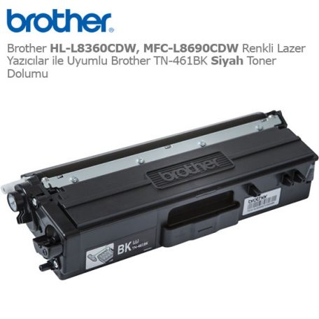 Brother TN-461BK Siyah Toner Dolumu