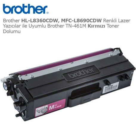 Brother TN-461M Kırmızı Toner Dolumu