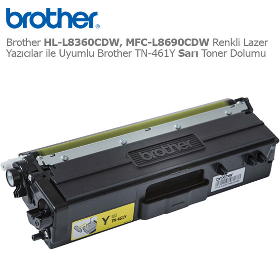 Brother TN-461Y Sarı Toner Dolumu