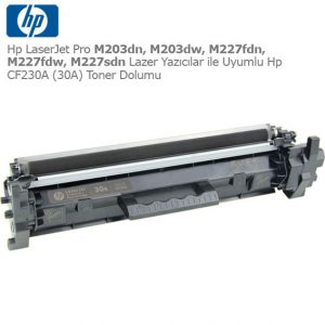 Hp CF230A Toner Dolumu