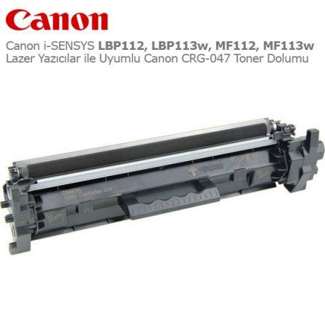 Canon CRG-047 Toner Dolumu