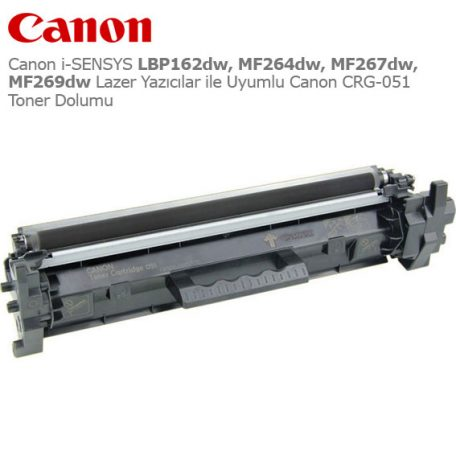 Canon CRG-051 Toner Dolumu