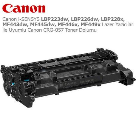 Canon CRG-057H Toner Dolumu