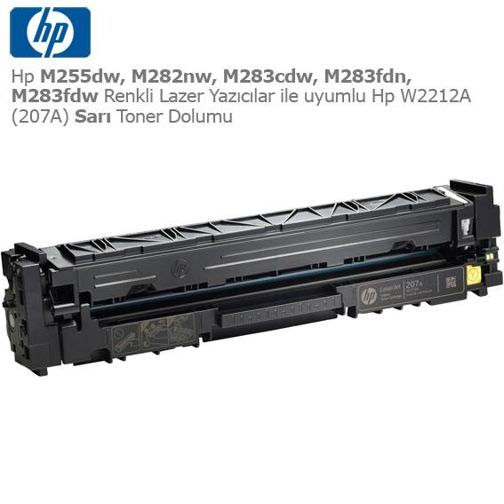 Hp W2212A (207A) Sarı Toner Dolumu